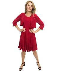JOLIE RED EMILY 2- PIECE DRESS AND JACKET