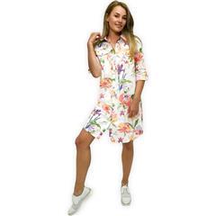 JOLIE WHITE FLORAL ANNIE SHIRT DRESS