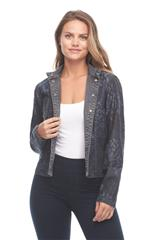 FRENCH DRESSING JEANS GREY REVERSIBLE JACKET