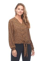 FRENCH DRESSING JEANS MULTICOLOUR DOTTY PRINT TOP WITH TIE FRONT