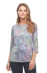 FRENCH DRESSING JEANS MULTICOLOUR LEAFY PRINT TOP