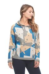 FRENCH DRESSING JEANS MULTICOLOUR DOTTY CAMO HOODIE