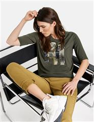 GERRY WEBER OLIVE EMBROIDERY SEQUINS TOP