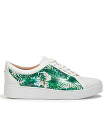 FIT FLOP RALLY WHITE MULTI JUNGLE PRINT LEATHER TRAINERS