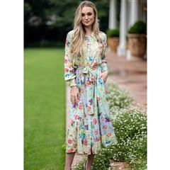 MASTIK MINT FLOWER DRESS