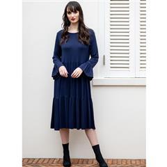 MASTIK BLUE MINI TIERED DRESS