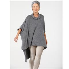 BRAVE + TRUE BLACK MARLE OUTLAW PONCHO