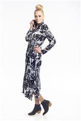 JOLIE BLACK WHITE PRINT LAUREN SHIRT DRESS