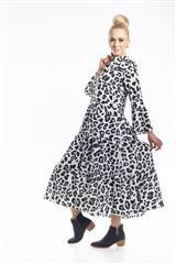 JOLIE WHITE ANIMAL PRINT TIER DRESS