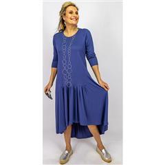 CALYPSO SAPPHIRE BLUE KNIT MAXI DRESS