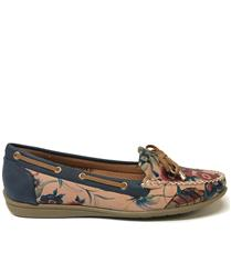 SOFT STYLE FLORAL DOMINO MOCCASIN