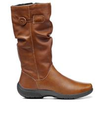 HOTTER RICH TAN LEATHER DERRYMORE BOOTS