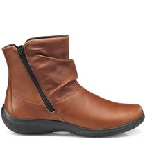 HOTTER RICH TAN LEATHER WHISPER BOOTS