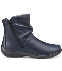HOTTER NAVY LEATHER WHISPER BOOTS