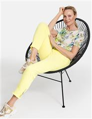GERRY WEBER LIME TROUSERS WITH FRAYED HEM