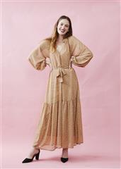 ME&B STONE DITSY PRINT KELLY MAXI DRESS