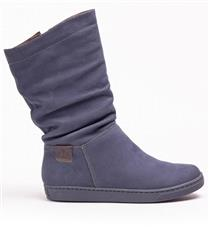 FROGGIE MANAGER LEATHER RUCHED MID FLAT CALF BOOT