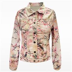 MADE IN ITALY BEIGE PINK REVERSIBLE JACKET