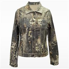 MADE IN ITALY SNAKE PRINT REVERSIBLE JACKET