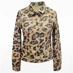 MADE IN ITALY LEOPARD PRINT REVERSIBLE JACKET
