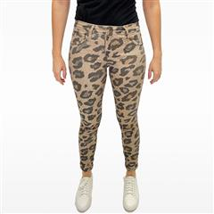 MADE IN ITALY LEOPARD PRINT REVERSIBLE JEANS