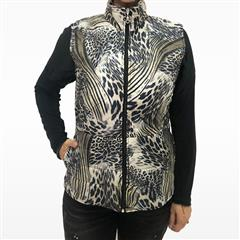HIP HOP TAUPE CHICK PUFFER GILET