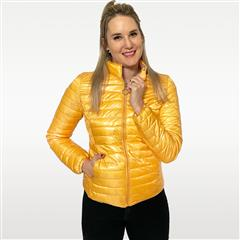 MADE IN ITALY YELLOW SHORT REVERSIBLE PUFFER JACKET