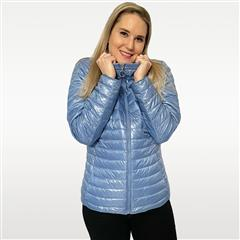 MADE IN ITALY BLUE SHORT REVERSIBLE PUFFER JACKET