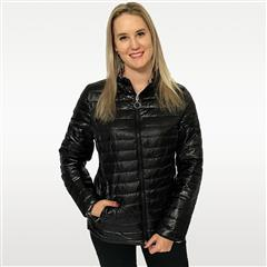 MADE IN ITALY BLACK SHORT REVERSIBLE PUFFER JACKET