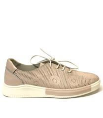 JOLIE PINK LEATHER LACE-UP SNEAKER