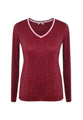 MADE IN ITALY SHIMMER TOP - MAROON