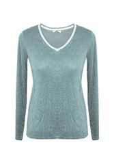 MADE IN ITALY SHIMMER TOP - MINT