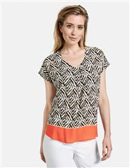 GERRY WEBER PRINTED ECOVERO BLOUSE TOP
