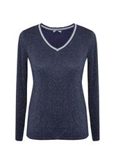 MADE IN ITALY SHIMMER TOP - NAVY