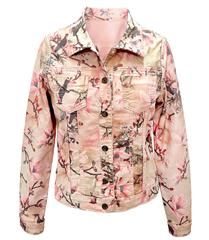 MADE IN ITALY PINK FLORAL REVERSIBLE JACKET