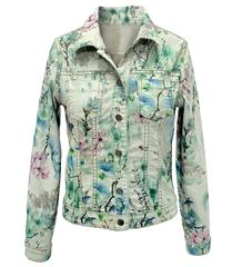 MADE IN ITALY MINT FLORAL REVERSIBLE JACKET