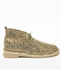 NEW EARTH GOLD FOIL LEOPARD PRINT LEATHER SHOE