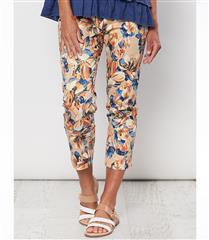 GORDON SMITH ORANGE FLORAL PRINTED PANTS