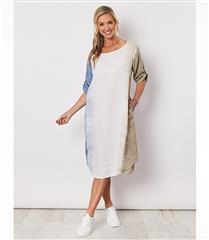 HAMMOCK & VINE BLUE TIE DYED PRNT DRESS