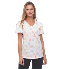 FRENCH DRESSING JEANS TULIP SHORT SLEEVE TRIANGLE PRINT TOP