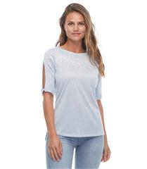FRENCH DRESSING JEANS BALLET NECK EMBROIDERED TOP