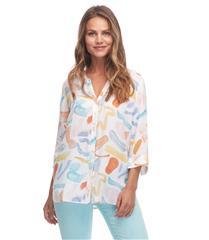FRENCH DRESSING JEANS ARTY ABSTRACT PRINT BLOUSE