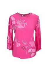 MADE IN ITALY PRINTED TOP - PINK