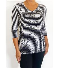FRENCH DRESSING JEANS NAVY STRIPE TOP