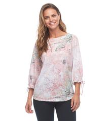 FRENCH DRESSING JEANS ABSTRACT PASTEL PRINT TOP