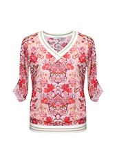 MADE IN ITALY V/NECK TOP - PINK