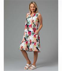 YARRA TRAIL PAPER FLORAL PRINT DRESS