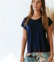 WILLOW NAVY SLOUCHY TEE