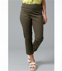 YARRA TRAIL GREEN PULL ON CROPPED JEANS