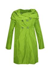 MADE IN ITALY SWING TRENCH COAT - LIME